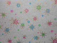 VINTAGE-ATOMIC-CHRISTMAS-DEPARTMENT-STORE-WRAPPING-PAPER-3-YARDS-GIFT-WRAP-SNOW