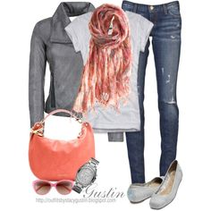 Jimmy Choo coral hobo, created by stacy-gustin my-style Mode Style, Style Me, Shoes Style, Outfits Otoño, Winter Outfits, Summer Outfits, Fashion Outfits, Looks Street Style, Fashion Beauty