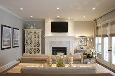 flourish design + style: family room & dining combo.