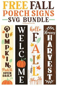 Vinyl Projects, Diy Craft Projects, Fall Projects, Vinyl Crafts, Fall Wood Signs, Front Porch Signs, Cricut Craft Room, Welcome Fall, Freebies