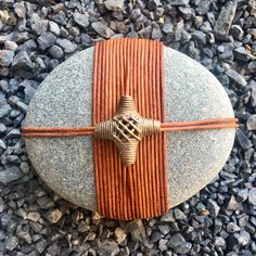 Stone Crafts, Rock Crafts, Tribes In Ghana, Asian Crafts, Stone Wrapping, Meditation Stones, Driftwood Art, Leather Cord, Creative Art