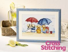 All Our Yesterdays, summer memories cross stitch design, from The World of cross Stitching magazine issue 194.