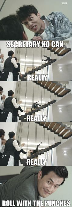 Pinning for two reasons: Secretary Ko is awesome and I want these stairs