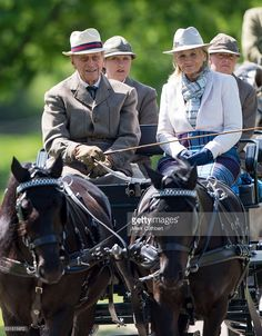 Prince Philip, Duke of Edinburgh at a Carriage Driving event at The Royal Windsor Horse Show on May 15, 2016 in Windsor, England.