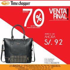Me apasiona mi #black #bag #rossetti. ¡Buen fin de semana!  Síguenos en TWITTER: https://twitter.com/TimeChopperPeru