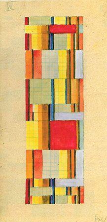 Bau Haus  Fabric Designs by Gunta Stolzl  (1897 Born in Munich as Adelgunde Stölzl. I like Gunta better...)