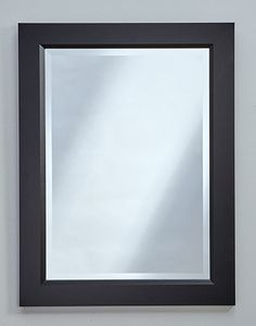 "Black Mirror with inside bevel edge - multiple sizes  #694 - 25.5""w, 1""d, 33.5""h #698 - 28""w, 1""d, 40""h"