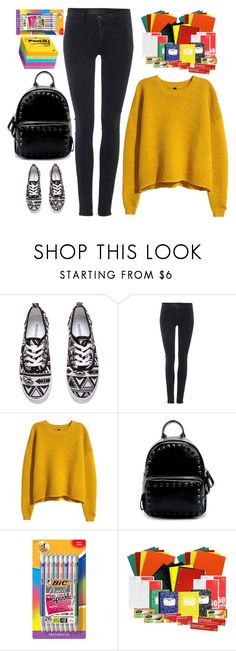 """""""back to school"""" by ecem1 ❤ liked on Polyvore featuring H&M, Samsøe & Samsøe, BIC, women's clothing, women, female, woman, misses and juniors"""