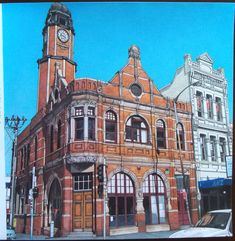 Fantastic Cities : Newtown Post Office, Sydney, New South Wales, Australia Adult Coloring, Coloring Books, Steve Mcdonald, Canada Eh, Post Office, Newport, Big Ben, Sydney, South Wales