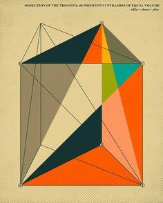 Modern pop art geometry print by Jazzberry Blue.