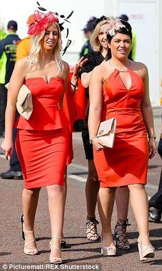 Ladies in red: Along with bridal white, cheerful crimson also struck a chord with the ladi...