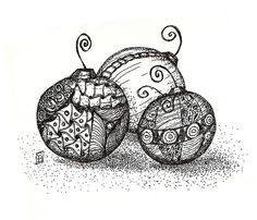 Zentangle Christmas Bulbs................ideas abound!