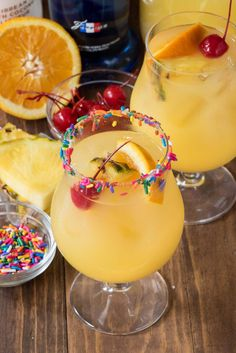 Cake by the Ocean Cocktail Recipe - an easy drink made with rum, cake vodka, orange, and pineapple!