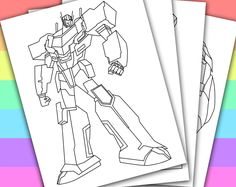 DIGITAL - INSTANT DOWNLOAD PRINTABLE COLORING PAGE This listing give you a series of 4 printable coloring pages of TRANSFORMERS PRIME. You can use these coloring pages for your children's birthday party, or a small party in the classroom if yo...