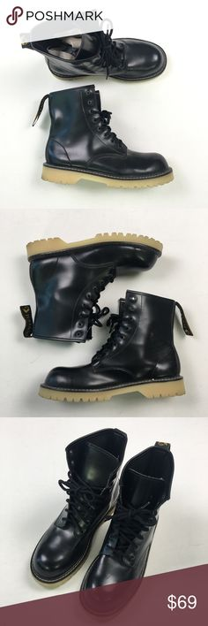 Juliano's Mens Black Boots 8D C73 Pre owned Juliano's Shoes Boots