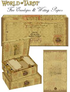 Fine Rinascimento Tarocchi, Envelopes & Writing Papers, From WorldOfTarot.com Envelope Writing, Writing Papers, Paper Envelopes, Tarot, Decorative Boxes, Gifts, Presents, Article Writing, Favors