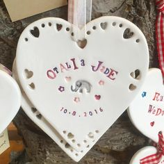 Personalised medium heart with cut out edge