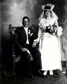 Studio portrait of bride and groom, abt. Albuquerque Museum, Valley College, College Library, Body Adornment, Studio Portraits, Photo Archive, Groom, Culture, Weddings