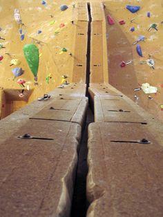 Realistic indoor crack climbing