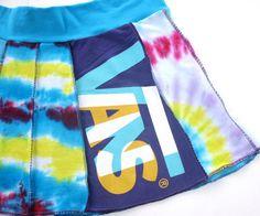 Vans Retread Tie Dye Tee Skirt of upcycled by RunzwithScissors