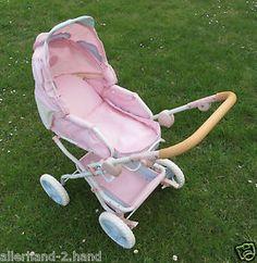 ANSEHEN # ZAPF Baby Annabell super PUPPENWAGEN rosa klappbar Puppe Kinderwagen