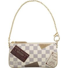 Louis Vuitton Damier Azur Canvas Pochette Milla Mm N63078 Als-$195