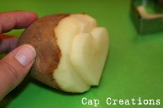 Cap Creations: Potato Stamp - How To