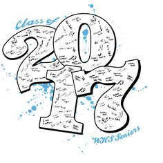 IZA DESIGN - Senior Class Shirts - Class of 2017 T-Shirt Design - Rumble Sig (desn-600s1).  Specializing in senior class tshirts since 1987!  Visit us at www.izadesign.com to get started.