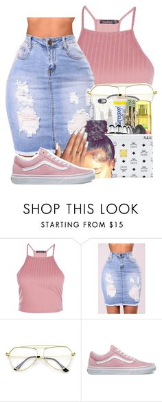"""Untitled #648"" by spoiledd-kayy ❤ liked on Polyvore featuring Boohoo and Vans"
