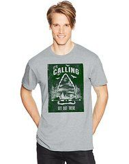 Hanes Men's CALL OF THE WILD Graphic Tee (in Sizes Small - 3XL)