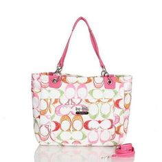 Look Here! Coach Poppy In Monogram Large Pink Totes BWW Outlet Online