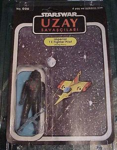 """STARS WAR UZAY - """"Imperial T E Fighter Pilot  (Sauas Pilotu)"""" -Very different from the TIE Fighter I am familiar with."""