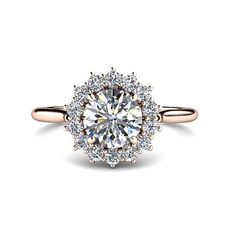1ct Diamond Engagement Ring Conflict Free Diamond by RareEarth, $5549.00