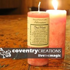 Coventry Creations Soul Mate Affirmation Pillar Spell Candle * Read more at the image link.