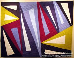 made by ChrissieD: Kate Stiassni - 'Spaces in Between': Contemporary Textile NYC Exhibition Charm Quilt, String Quilts, Contemporary Quilts, Quilt Patterns, Abstract Art, Textiles, Nyc, Triangle Quilts, Triangles
