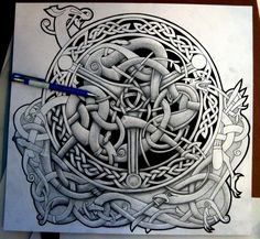 Celtic Blend Shield (WIP) by Tattoo-Design.deviantart.com    If I wasn't scared to death of needles, this would be my first tattoo