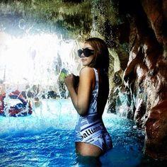 {FASHION} CL's wearing John Galliano SwimSuit