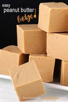is the absolute best Peanut Butter Fudge you will ever taste and it's so easy to make in the microwave. This homemade fudge is unlike any you've ever tasted. It has an incredibly smooth texture and a lovely peanut butter flavor. Best Peanut Butter Fudge, Microwave Peanut Butter Fudge, Vegan Peanut Butter, Peanut Butter Recipes, Fudge Recipes, Candy Recipes, Chocolate Recipes, Dessert Recipes, Homemade Desserts