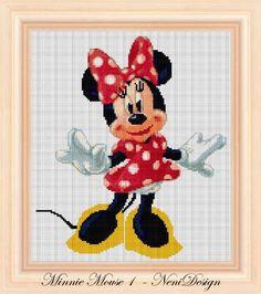 Cross stitch pattern Minnie mouse Instant Download por NeniDesign