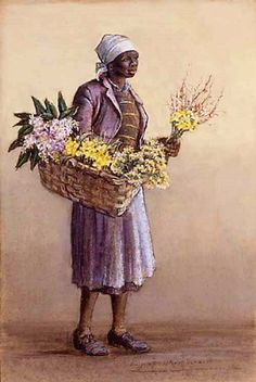 Flowers, Ma'am? Hagaar Mazyck Annie Carolina Cabin Cabins With Wash On The Line Avenue At The Oaks, Goose Creek Mary Mazyck's Daughter Mary title unknown Charleston, Church Street In Th…