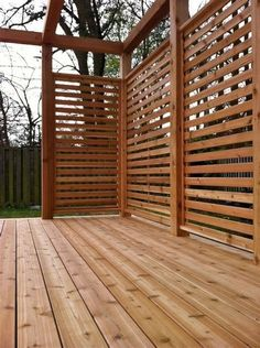 Cinder Block Patio Wall flagstone patio with grass.Stone Patio With Fireplace backyard patio flowers.Patio Steps Home Improvements. Privacy Fence Designs, Patio Deck Designs, Privacy Screen Outdoor, Backyard Privacy, Patio Design, Backyard Patio, Deck Privacy Screens, Privacy Wall On Deck, Deck Ideas With Privacy