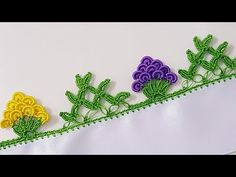 Üzümlü Fıstık Ve Dağ Oyası Buluşması - YouTube Creative Embroidery, Crochet Borders, Crochet Flowers, Hair Accessories, Make It Yourself, Knitting, Knits, Youtube, Craft