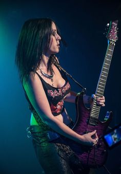 Nikki Stringfield – guitar -The Iron Maidens Heavy Metal Girl, Heavy Metal Bands, Bass, Iron Maiden Shirt, Learn Guitar Chords, Ladies Of Metal, Guitar Girl, Music Guitar, Women Of Rock