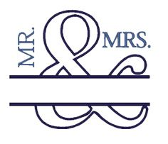 All Designs :: Mr. and Mrs. Applique