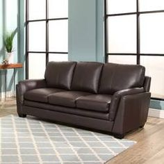 Build your seating area around the Abbyson Ella Top Grain Leather Sofa . Its transitional style and top grain leather upholstery in brown blends seamlessly. Leather Reclining Sofa, Brown Leather Sofa, Top Sofas, Sofa Sale, Furniture, Sofa, Top Grain Leather Sofa, Sprung Sofa, Burgundy Sofas
