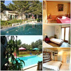 Chambres d'hôtes avec piscine extérieure non couverte à Lambesc dans les Bouches du Rhône. Visiter le site web : http://provence-hotes.net/