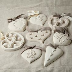 Diy Crafts - 40 Plaster of Paris Craft Ideas and Projects for 2018 - Bored Art Salt Dough Crafts, Salt Dough Ornaments, Clay Ornaments, Plaster Crafts, Clay Crafts, Arts And Crafts, Fun Crafts, Clay Christmas Decorations, Christmas Crafts