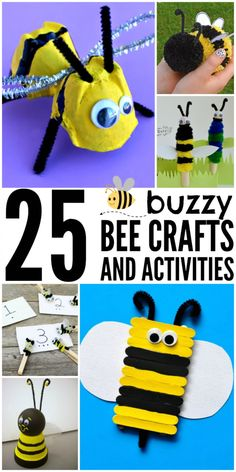 25 Buzzy Bee Crafts & Kids Activities to keep your family busy all summer long!