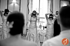 Blindfolded bridal party dance off! #games #fun #wedding #dance Hudson Valley NY and CT Wedding Photography www.autumn-photography.com