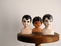 Vintage Doll Heads - Vintage Doll Head, Ceramic, Porcelain, China. Shop: SnaphotVintage